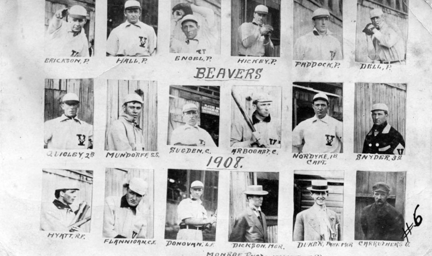 1908 Vancouver Beavers Postcard